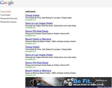 AdSense Ad Landing Page