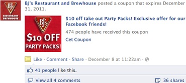Facebook Coupon Ad Testing
