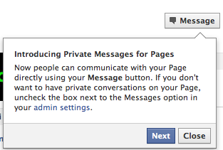 Facebook Private Messages Fans and Pages