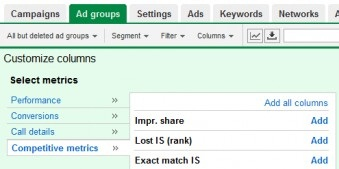 AdWords Ad Groups New Metrics