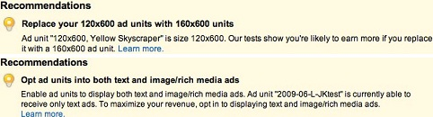 AdSense Ad Optimization Recommendations