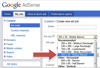 AdSense Mobile Ads To AdSense For Content