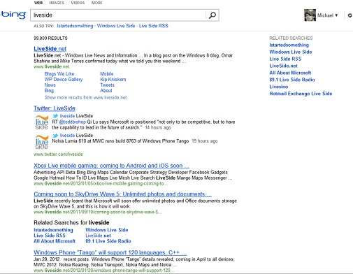 Bing New Design Testing