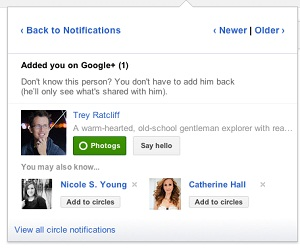 Google+ People Suggestions