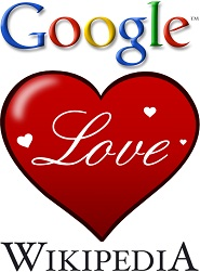 Google-Wikipedia Love Heart
