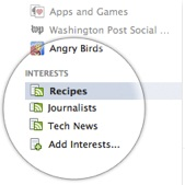 Facebook Interest Lists on The Sidebar