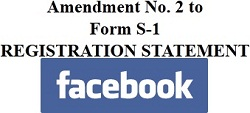 Facebook S-1 Amendment No 2