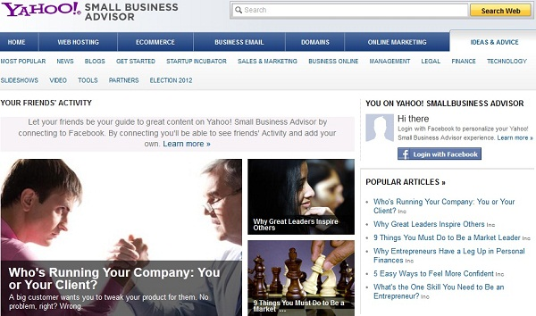 "Yahoo Launching ""Small Business Advisor"" – Content Site For Entrepreneurs"