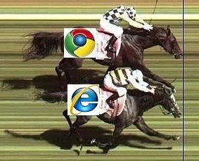 Close Race IE and Chrome