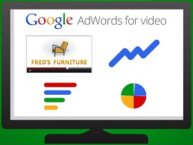 Google AdWords For Video on a screen