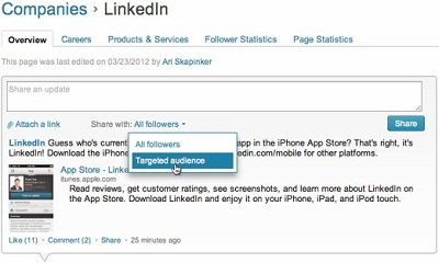 LinkedIn Share With Targeted Audience