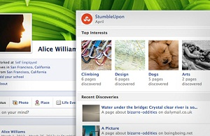 StumbleUpon Launching Facebook Timeline App (Which Blocked For Firefox and IE Users)