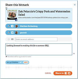 Bitly Share Bitmark