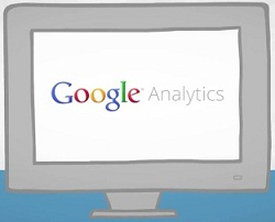 Google Analytics Logo On Monitor