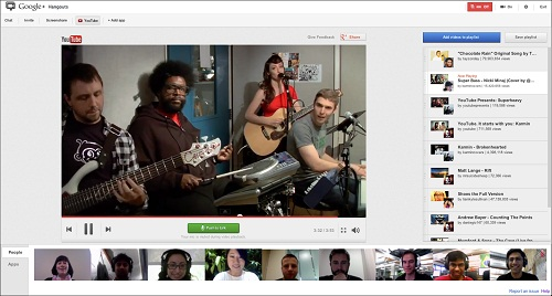 Google+ Hangout With YouTube Playlist