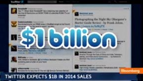 Twiiter $1 billion In 2014