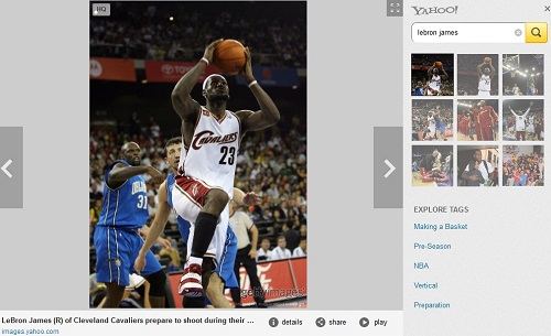 Yahoo Quality Image Search Lebron James