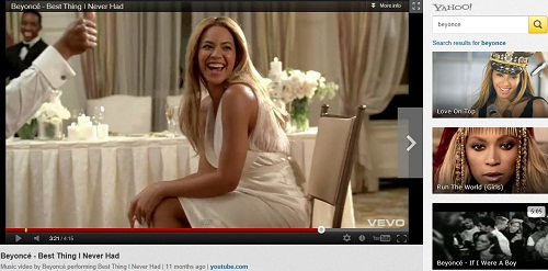 Yahoo Video Search Beyonce