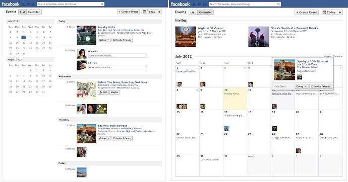 Facebook Events Feature