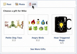 Facebook Gifts - Choosing Product