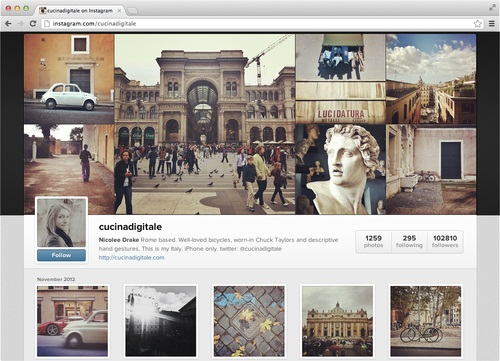 Instagram New Web Profile