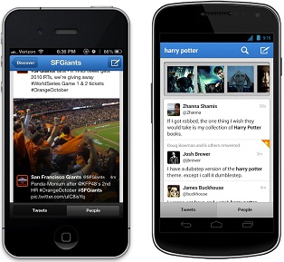 Twitter Search on Mobile