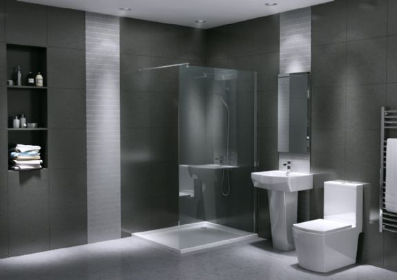 Silver Bathroom Suite