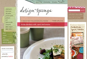 design sponge blog homepage