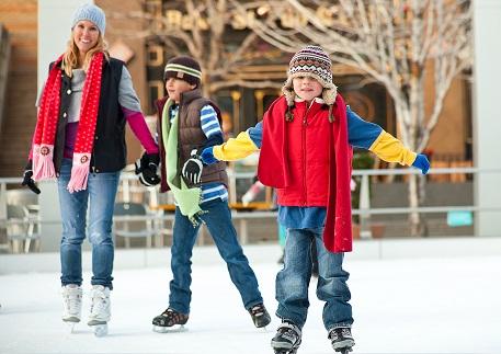 People on ice rink