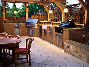 Brown Outdoor Kitchen