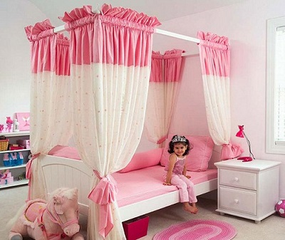 Sweet Kid in a Pink Room