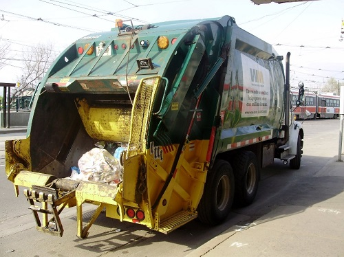 rubbish removal truck