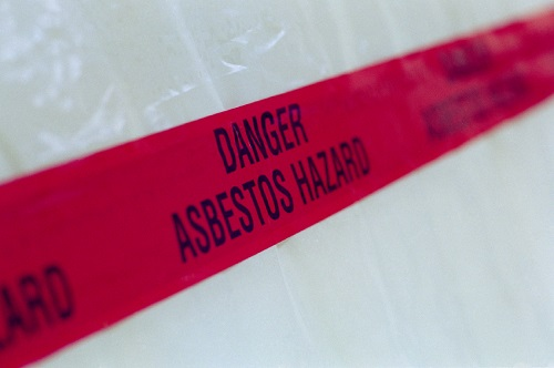 Asbestos Red Warning Tape