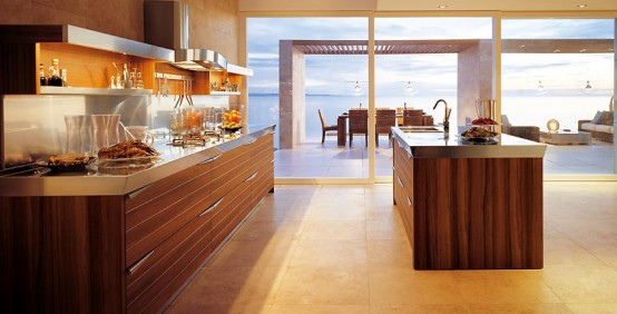 brown glass splashback