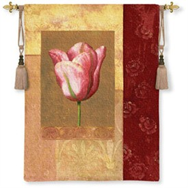 Tulip Rose Reproduction Tapestry