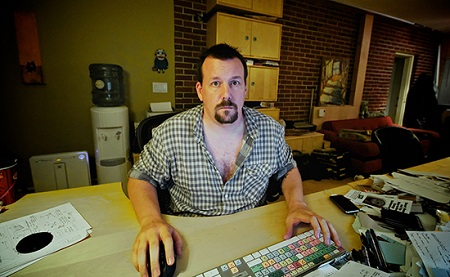 A guy in a home office