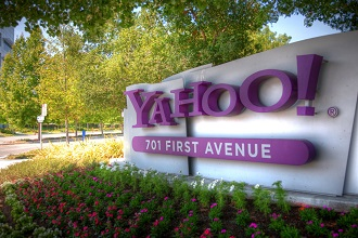 Yahoo's outdoor sign