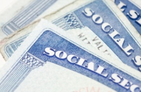 Blue Social Security Cards