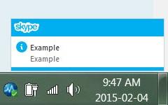 Desktop Notifications: Skype